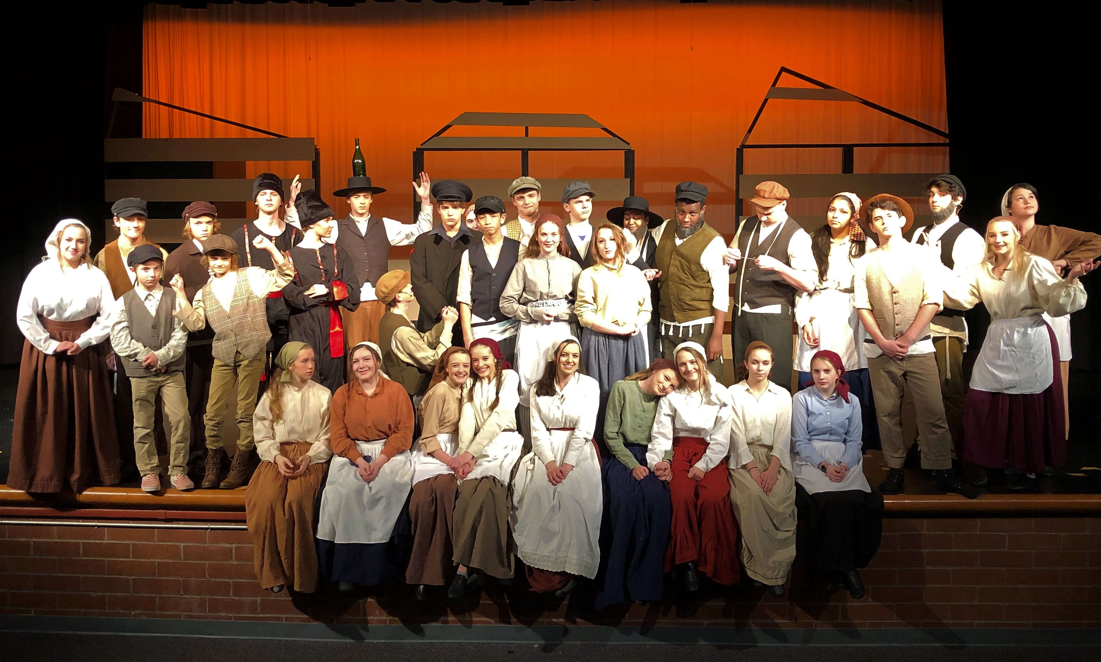 "HHS cast of ""Fiddler on the Roof"""